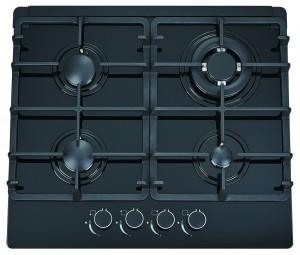 60cm Black Glass Gas Cooktop