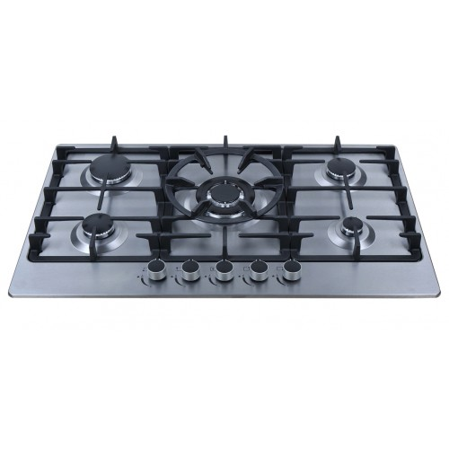 90cm Stainless Steel Gas Cooktop Centre wok burner