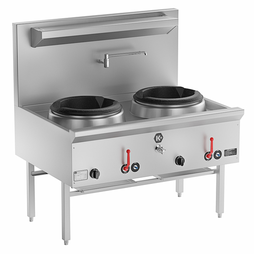 Bs Waterless Two Wok Burner on induction cooker cooktop