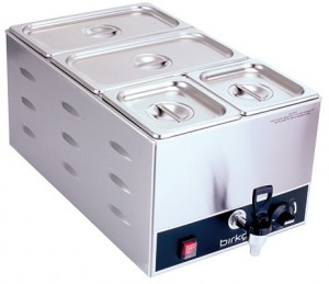 Birko Bain Marie Tap Pan Single With Pans 1110104