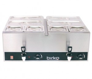 Birko Bain Marie Tap Pan Single With Pans 700ml