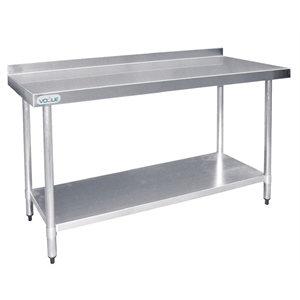 stainless steel bench with splashback - Stainless Steel Prep Table