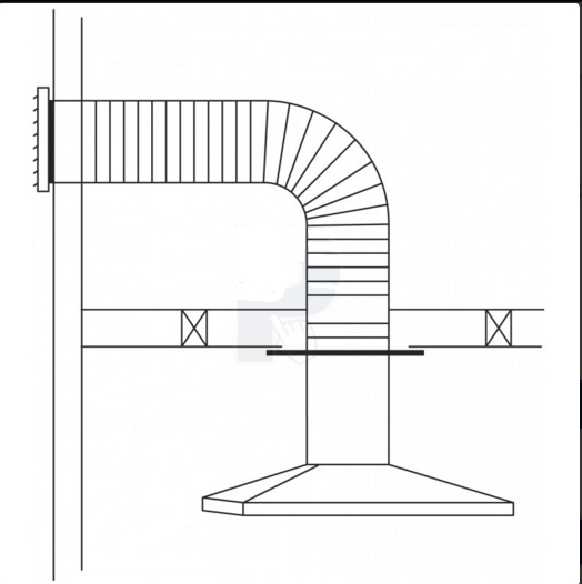 Rangehood Wall Ducting Kit Flexible Ducting Ranghood