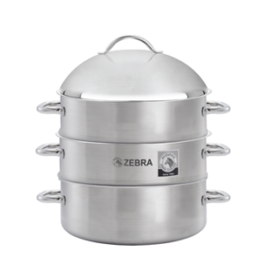 zebra 4 piece steamer