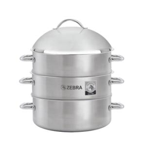 zebra 4 piece steamer
