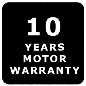 10 Years Motor Warranty